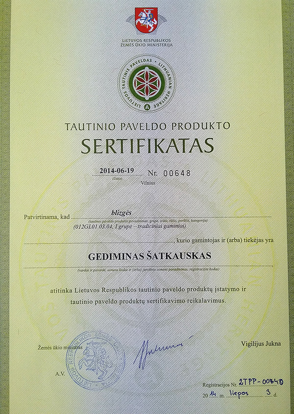 tpp a sertifikatas blizges